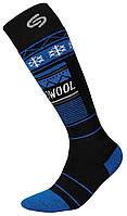 Термоноски InMove Ski Deodorant Thermowool 38-40 Черные с синим, КОД: 286888