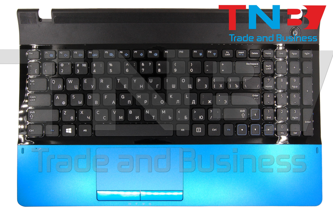 Клавиатура Samsung NP300E5C СИНИЙ топкейс
