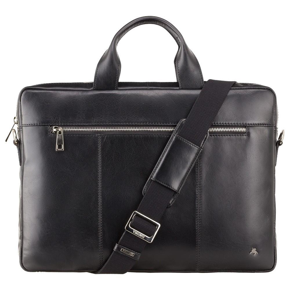 Тонкая сумка для документов Visconti ML28 Black (Великобритания)