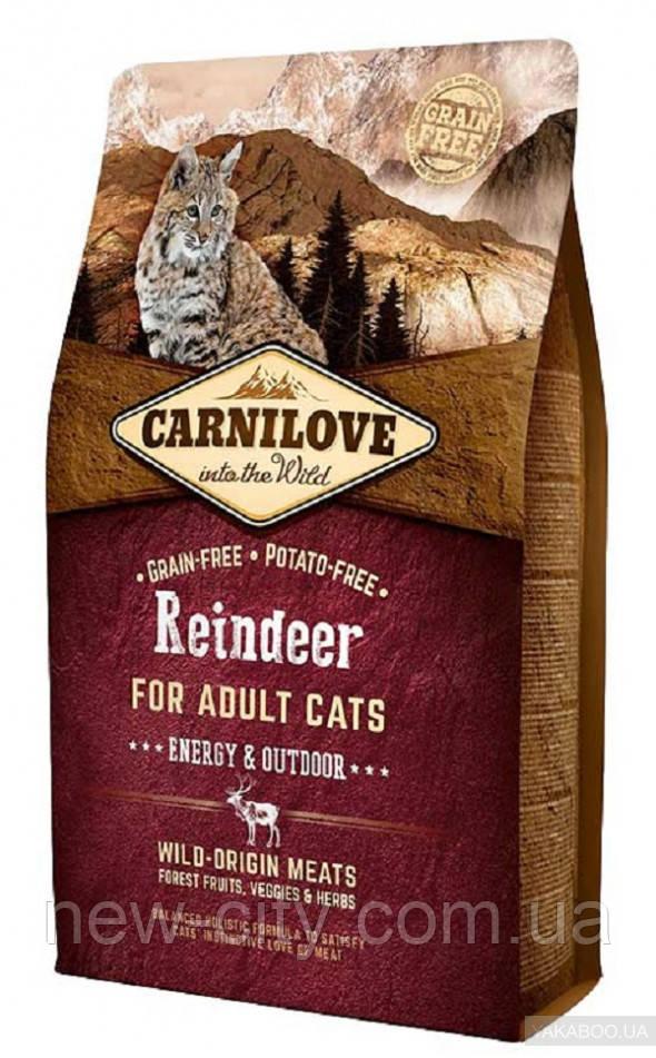 Carnilove Cat Raindeer Energy & Outdoor 6 kg Сухой корм для активных котов