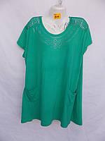 Жіноча сорочка футболка Батал (в уп. 5 кольорів) пр-ва В'єтнам оптом в Одесі.