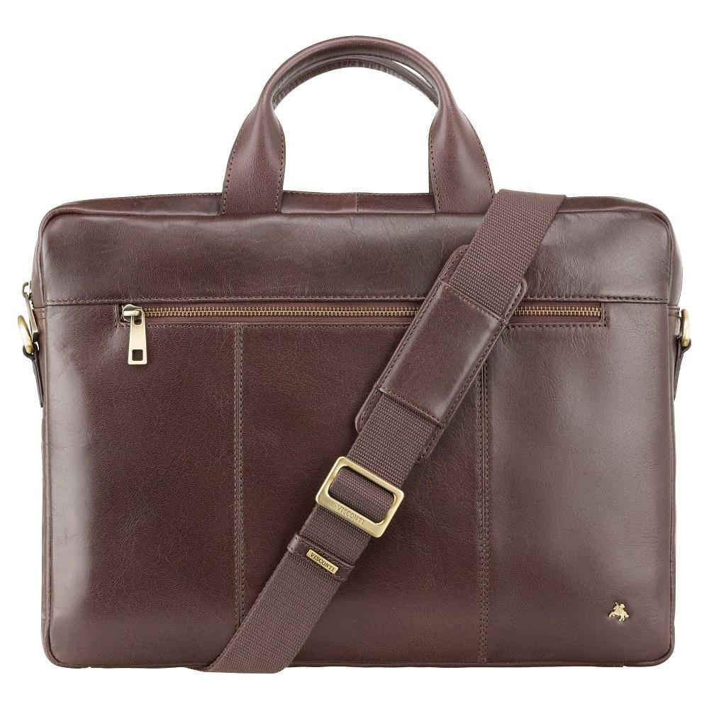 Тонкая сумка для документов Visconti ML28 Brown (Великобритания)