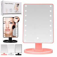 Настольное зеркало с LED подсветкой Large LED Mirror, Настільне дзеркало з LED підсвічуванням Large LED Mirror, Косметические зеркала