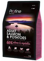 Сухой корм Profine Adult Salmon с лососем и картофелем для взрослых собак 15