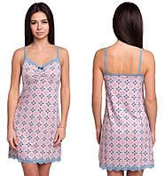 b0464a97344f10b Ночная сорочка из вискозы женская вискозная ночнушка нежная трикотажная,  бежевая