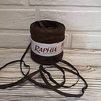 Рафія коричнева декоративна водовідштовхувальна для декору і упаковки