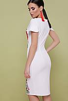 Нарядное платье белого цвета Маки  Питрэса-КД к/р, фото 3