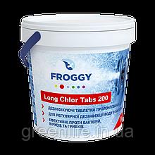 LONG CHLOR TABS 200, хлор тривалий , Froggy , ТАБЛЕТКИ 200 ГРАМ, Фроггі, 1 кг