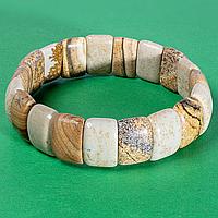 Яшма песочная, 15*10 мм., браслет, 523БРЯ