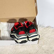 Женские кроссовки в стиле Balenciaga Triple S Red (36, 37, 38, 39, 40 размеры), фото 3
