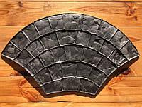 """Резиновый штамп """"Веер малый"""" для напольной печати по бетону 720*400 мм"""