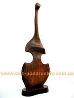 Оригинальная деревянная статуэтка «Девушка — скрипка»