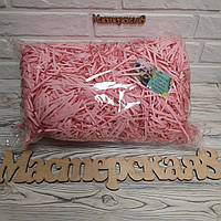 ОПТ Бумажный наполнитель  розовый, декоративная стружка 500 грамм
