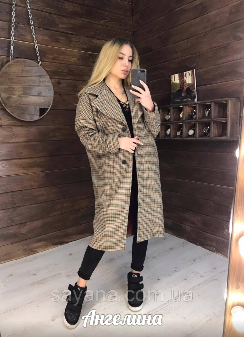 Жіноче пальто вільного силуету в кольорах. АА-2-0319