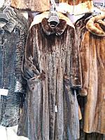 Шикарная норковая шуба халат натуральная цельная норка, шуба из норки 46-48 размер, фото 1