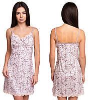 Ночная сорочка из вискозы женская вискозная ночнушка трикотажная, цветочек
