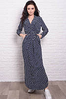 Платье с длинным рукавом Шимер, горох