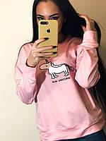 Свитшот женский весна-осень Единорог (42/46 универсал) (цвет розовый) СП