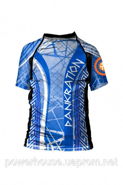 Детский рашгард Berserk MMA Kidsfor pankration APPROVED WPC blue/Approved UWW