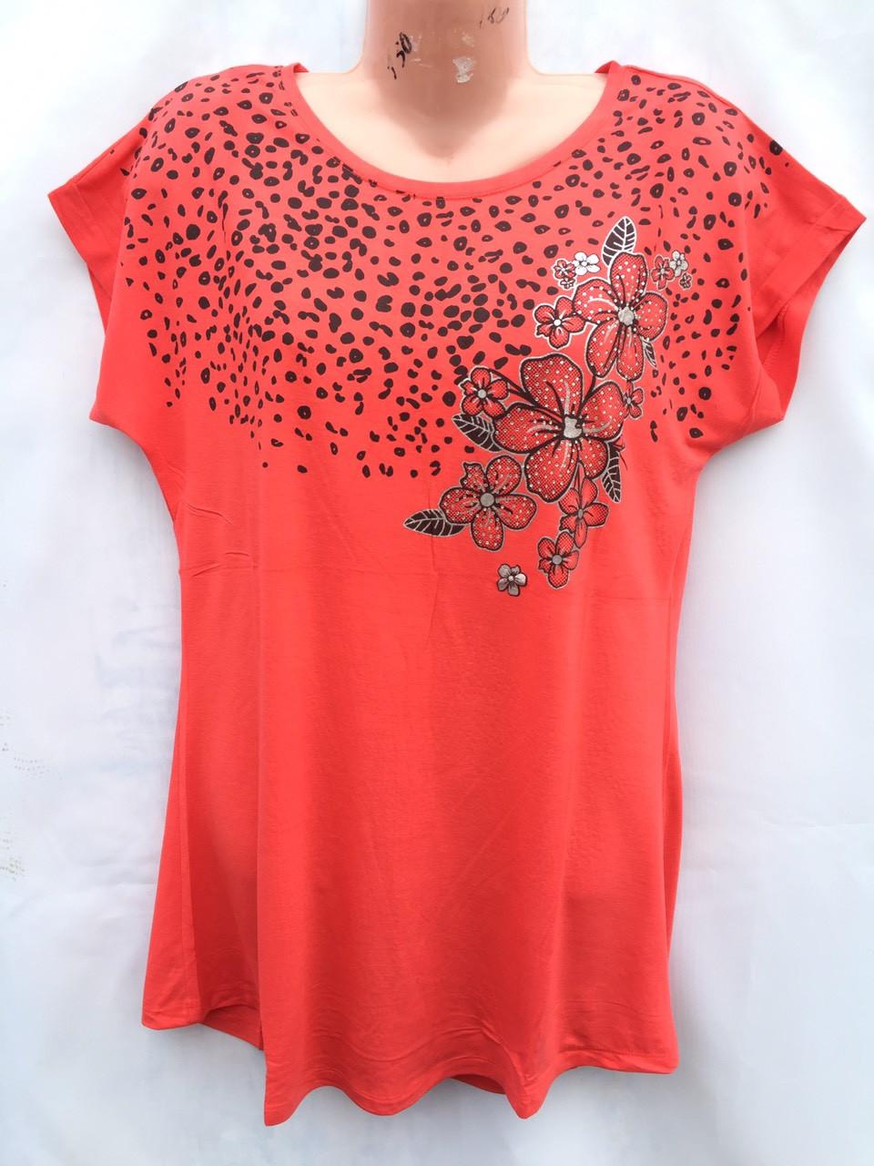 Женская футболка 2XL-5XL норма хлопок