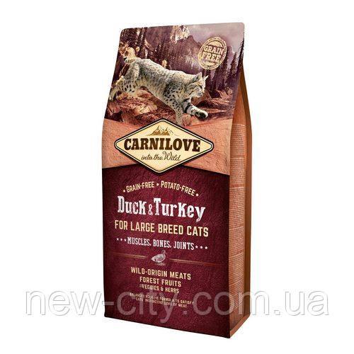 Carnilove Cat Duck & Turkey Large Breed 2kg корм для кошек крупных пород с уткой и  индейка
