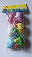 Набор для росписи яиц.упаковка 6 шт.краски 6 цвет.кисточка.