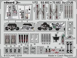 Набор цветных фототравленных деталей для модели самолета Су-27УБ. 1/72 EDUARD 73652