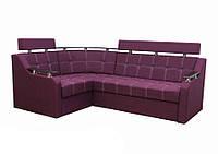 Угловой диван Garnitur.plus Элегант 3 фиолетовый 235 см DP-95, КОД: 181555