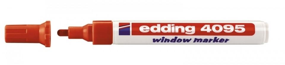 Маркер меловой Edding 4095, 2-3мм., красный