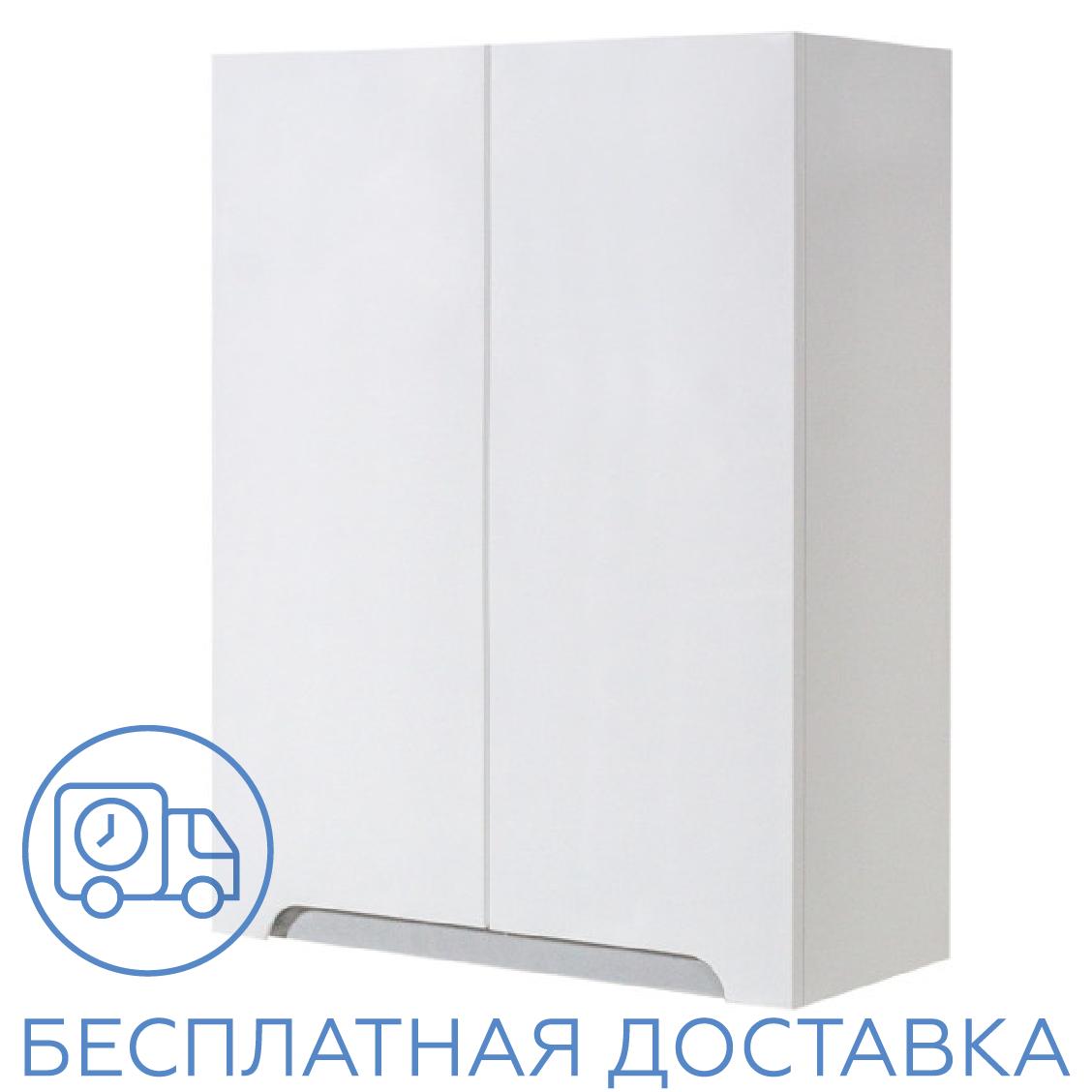 Шкаф навесной для ванной комнаты Симпл-Металлик 60-02 ПИК