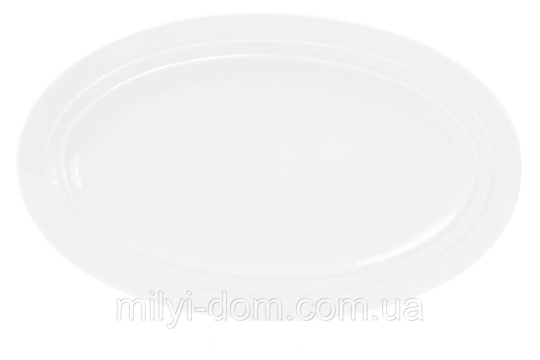 Овальное фарфоровое блюдо , 35 см. 2 шт
