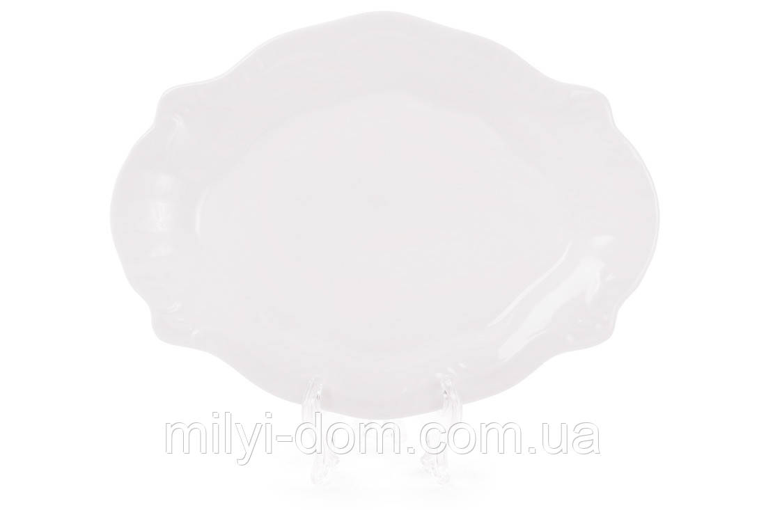 """Фарфоровое сервировочное  блюдо """"Грация"""", 18 см. набор 6 шт"""