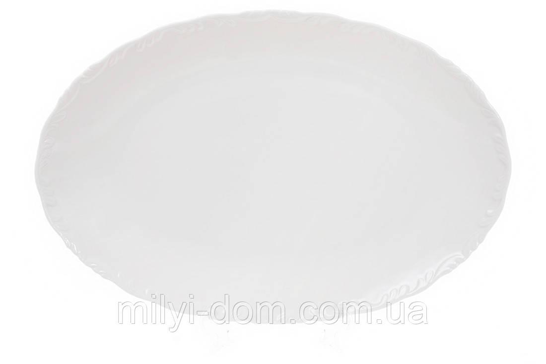 """Овальное фарфоровое блюдо """"Нежность"""", 30 см. 4 шт"""