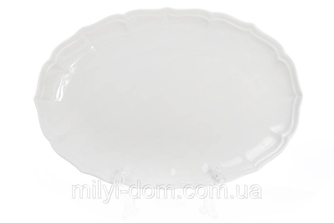 """Овальное фарфоровое блюдо """"Нежность"""", 30 см.3 шт"""