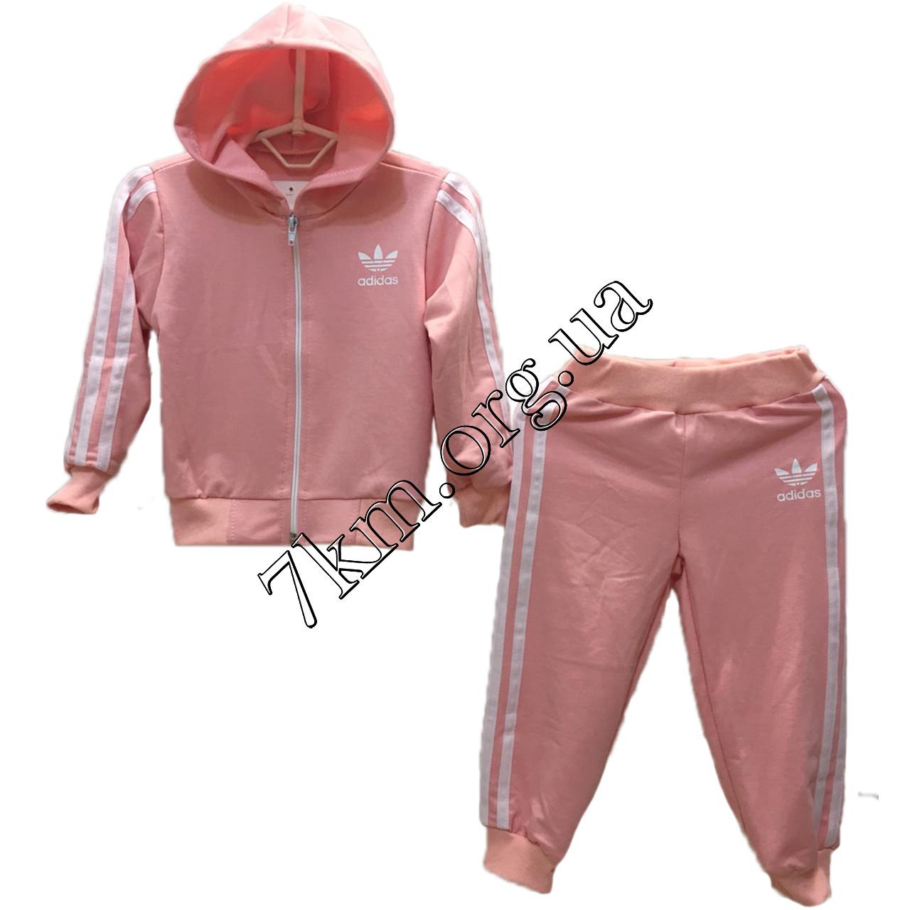 """Спортивный костюм детский реплика """"Adidas"""" для девочек 1-3 года Оптом 040304"""