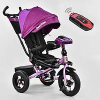 Трехколесный велосипед Best Trike 6088 F малиновый усилен рама поворот сидения надувные колеса музыка и свет