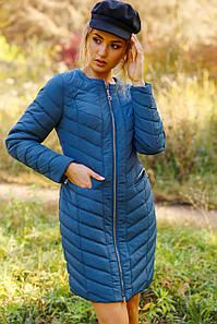Женская демисезонная удлиненная курточка Соломея
