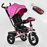 Трехколесный велосипед Best Trike 6088 F розовый усилен рама поворот сидения надувные колеса музыка и свет