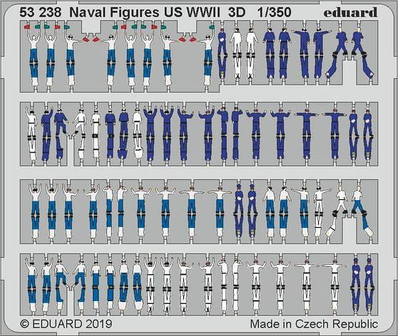 Фігурки американських моряків WWII. 1/350 EDUARD 53238, фото 2
