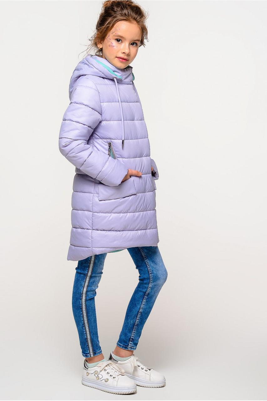 Весенняя удлиненная куртка на девочку Натти