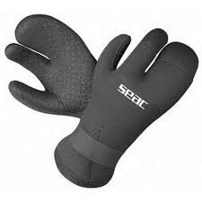 Перчатки SEAC SUB MORK 3-ех палые 7 mm