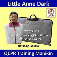 Учебный Манекен Имитатор пациента Laerdal Little Anne Dark QCPR Training Manikin