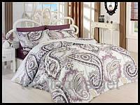 Постельное белье First choice сатин полуторный размер Palace lila (kod 3808)