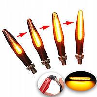 LED указатели поворота, поворотники для мотоцикла, динамические