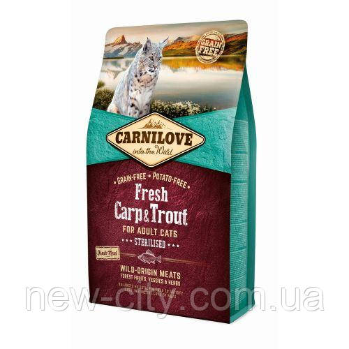 Carnilove Fresh Carp & Trout Sterilised for Adult cats 0.4kg корм д/стерилиз. кошек с карпом и форелью