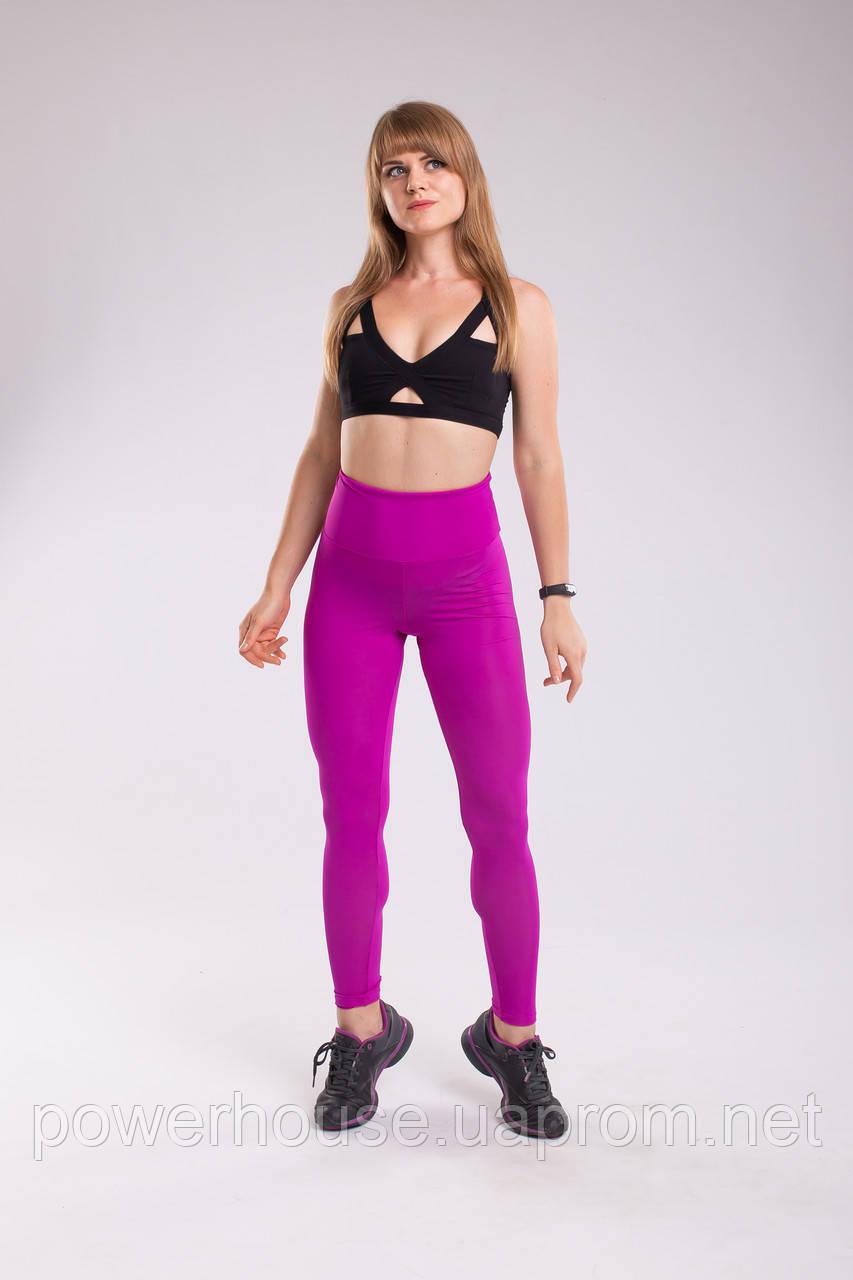 Спортивные компрессионные лосины с утягиванием, фиолетовые