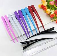 (12шт) Зажим для волос стрела 12,5см, Микс 6 цветов