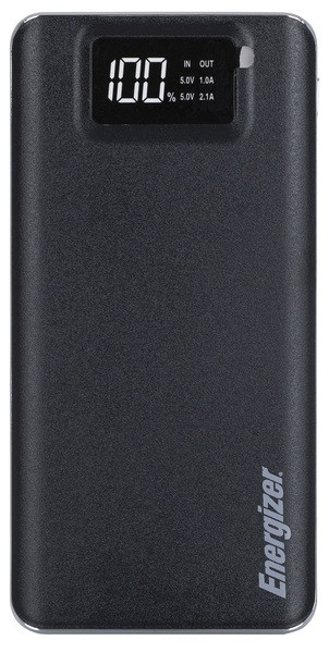 Оригинальный Li-pol Power bank Energizer UE10018 LCD (портативная батарея), 10000 mAh, черная