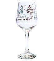 """Бокал для вина """"Винишко of unicorns"""" (380 мл)"""