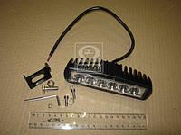 Фара LED прямоугольная 18W, 6 ламп, 159,8*54,2мм, узкий луч 12/24V 6000K (ТМ JUBANA), (арт. 453701043), ACHZX